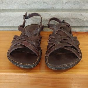 Born Chocolate Brown Strappy Sandals